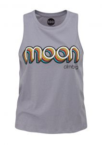 Women's Retro Moon Logo Vest Lava Grey
