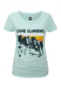 Women's Gone Climbing T-Shirt Caribbean Blue